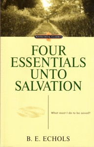 Four Essentials Unto Salvation Book Cover